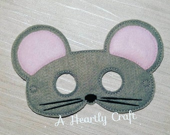 Woodland Mouse Mask -  Animal Mask - Celebration Mask - Birthday Mask - Animal Party - Dress Up Pretend Play - Halloween School Party Mask
