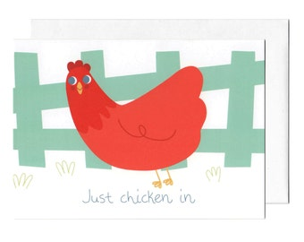 Just Chicken In Greeting Card