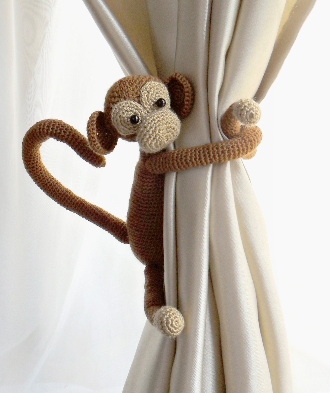 Drape Ties: Curtain Tie BackMonkey Curtain Tie Back1 PcsNursery