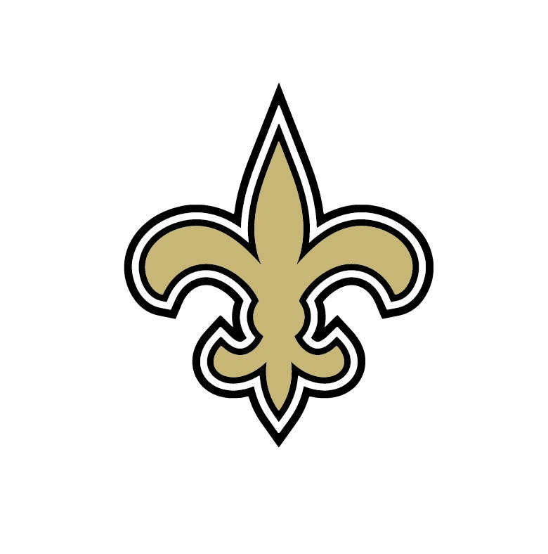 Full color new orleans saints die cut decal for New orleans saints coloring pages