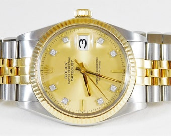 Men's 18k Gold/Stainless Steel Rolex Oyster Perpetual Datejust