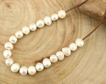 T-L0036 50pcs,2.5mm large hole,12-13mm,baroque shape,white AA freshwater pearls loose natural big hole pearl,DIY jewelry pearl wholesale