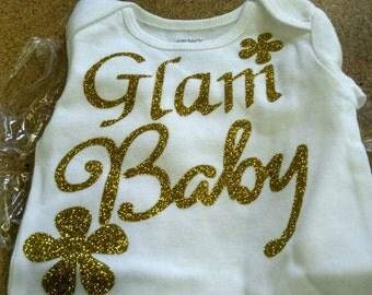 Glam baby t-shirts, Glam baby onesie,vinyl T-shirt,