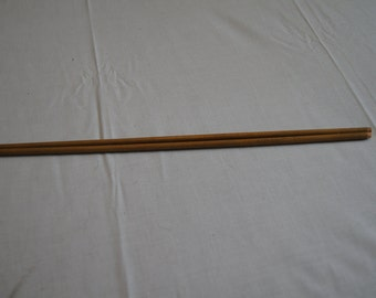 Vintage 1950's - Wood knitting needles - Set of 2 6mm and 5mm 14 inches long US 10