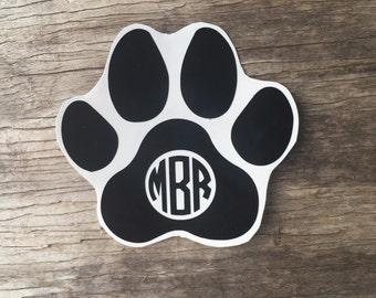 Tiger Paw Monogram Decal