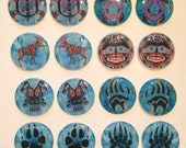 Native American cabs - blue set