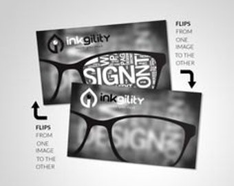 "2.5"" X 2.5"" (Social Cards) 1000 Animated (Lenticular) Business Cards"