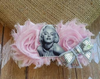 Marilyn Monroe Hair Clip. Marilyn Monroe hair bow, I love Marilyn Monroe. Monroe hair clip, Marilyn Monroe hair piece