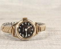 Vintage Watch LUCERNE, SWISS made Hard Gold Plate, 1 jewel Wrist Watsh, Mechanical Watch, Perfect Working Condition, 1970s Swiss Watch