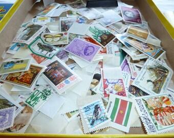 Vintage stamp collecting kit