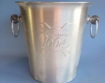 Kronenbourg 1664 Beer Advertising Ice Bucket Cooler Aluminum