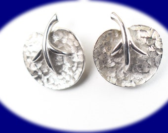 Vintage Earrings  Silver Plated Clip On Earrings  Vintage Earring Statement Earrings Prom Earrings Mother Gift