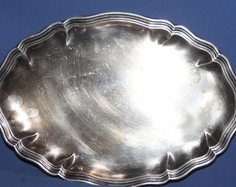 Antique Silver Plated Serving Tray
