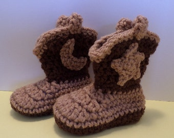 BABY COWBOY BOOTS Crocheted