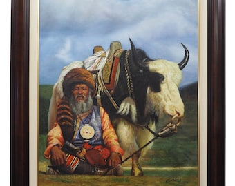Original Oil Painting on canvas Native American
