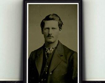 11x17 Young Wyatt Earp Portrait Print