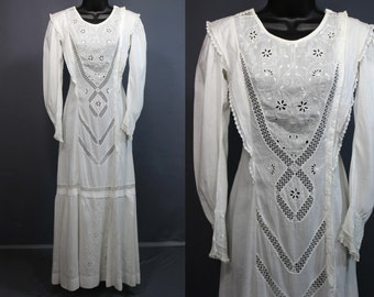 Edwardian Dress........Gorgeous White Cotton Edwardian Day Dress