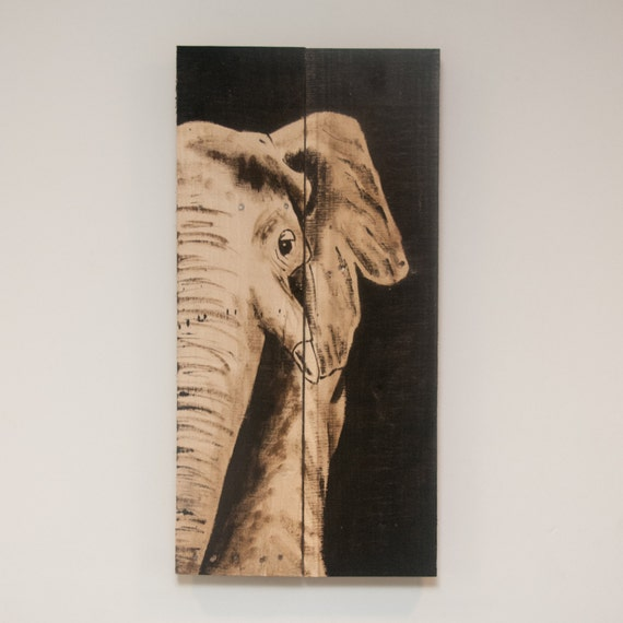 Elephant painting elephant art safari theme decor by African elephant home decor