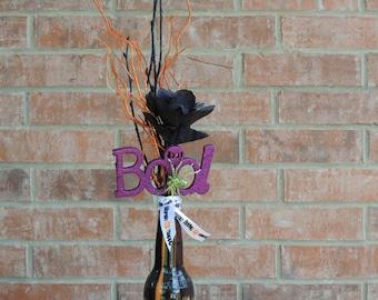 Halloween Black & Purple Rose Arrangement