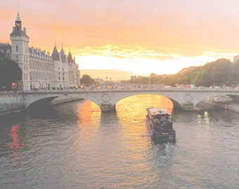 Sunset Picture, Paris Photography Print, Wall Art Print, France Photo, Paris Decor, Wall Decor, Photograph, Paris Picture, 8 x 10 Print