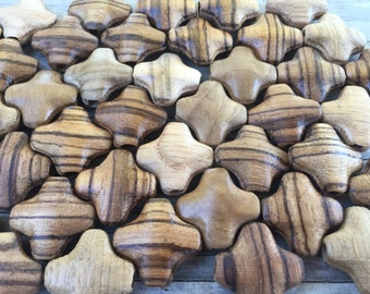 Wholesale 12 piece wood cross pendants (chain not included)