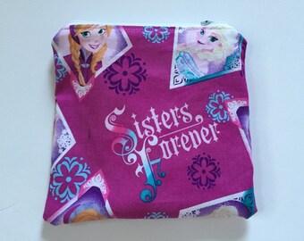 Frozen- Anna and Elsa Reusable snack bag, sandwich bag etc...