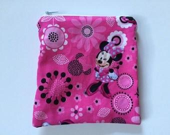 Minnie Mouse Reusable snack bag, sandwich bag etc...