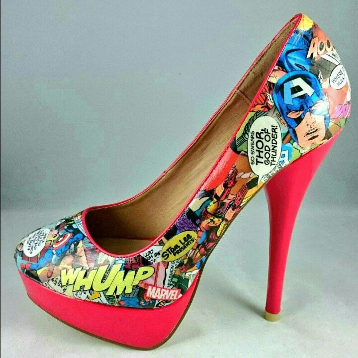 Handmade Peg Baskets : Handmade comic book shoes and gifts by pegstardesigns on etsy