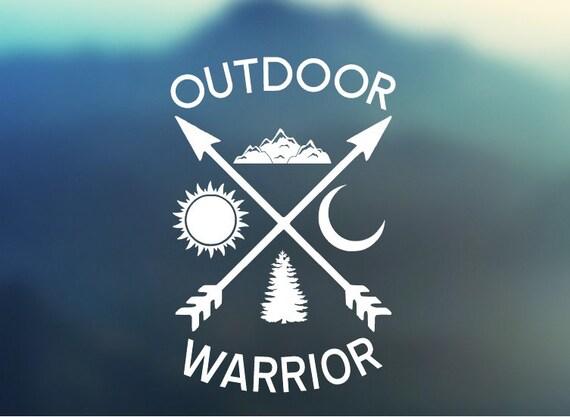 Outdoor Warrior Vinyl Decal - Car Decal - Car Sticker - Laptop Decal - Laptop Sticker