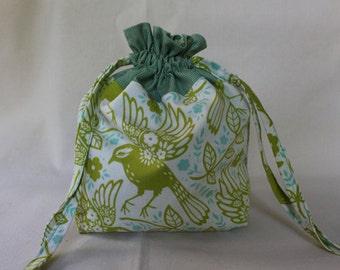 Green Birds Project Bag
