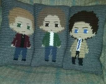 crochet dark hunters pillow - set of 3