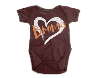 Football Onesie | Browns Football Team Baby Bodysuit | Cleveland Baby Romper | Baby Shower Gift | New Baby Gift