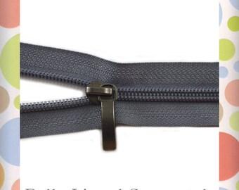 Zipper By The Yard, YKK 578 Dark Gray, Number 5 Nylon Coil, Purse Handbag Bag Making Zippers Supplies Hardware Sewing Notions
