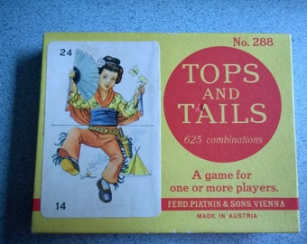 Vintage Card Game Tops and Tails No. 288, intact