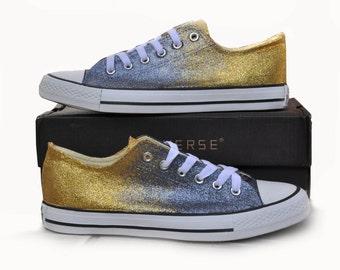 Converse shoes black converse gold converse ombre converse black gold converse custom converse glitter converse sneakers converse