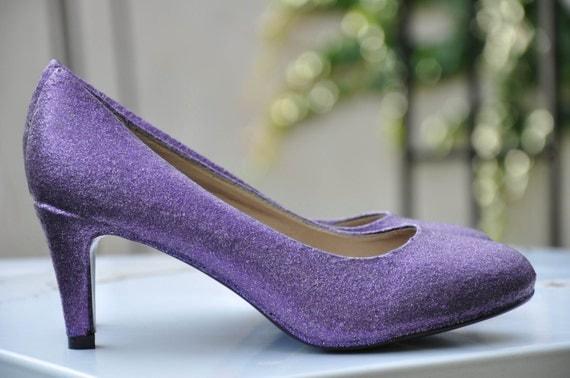 wedding shoes lavender violet shoes glitter shoes wedding shoes