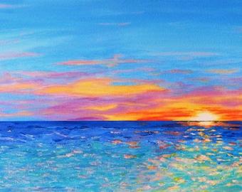 Good morning sunshine,sunrise,blue,ocean,violet,yellow,sky,
