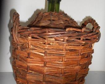 Damigiana di vetro verde etsy for Bottiglia in francese