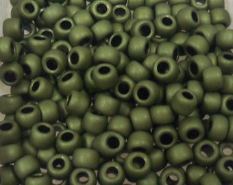 Toho Seed Bead Size 6 Matte Olive 20gr 8173