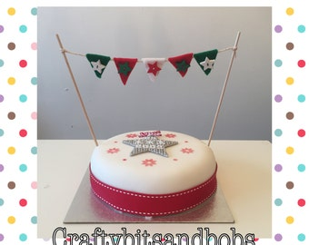 Cake bunting, weddings, Christmas, baby shower, birthdays, christenings, special occasions