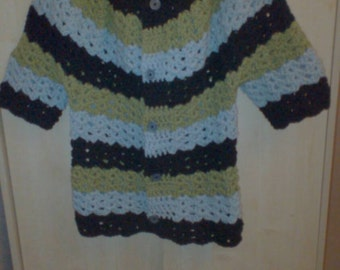 Crochet short sleeve Cardigan. FREE SHIPPING