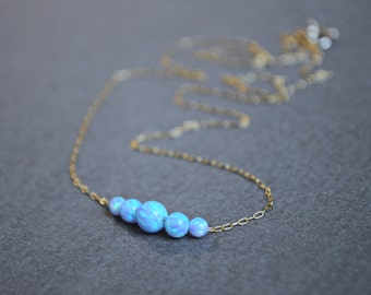 Opal necklace. Valentine Day. Fire opal. Opal Jewelry. Blue Opal. White Opal. Pink Opal. Minimalist Delicate Opal Necklace. Girlfriend gift