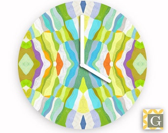 Wall Clock by GABBYClocks - Abstract Lime