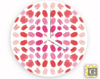 Wall Clock by GABBYClocks - Pink Brushes