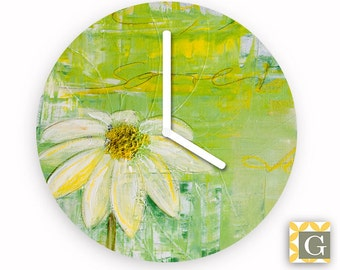 Wall Clock by GABBYClocks - Sunlit Daisy No. 2