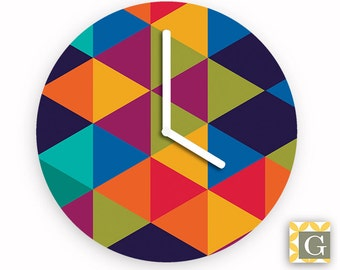 Wall Clock by GABBYClocks - Geometric Multi No. 3
