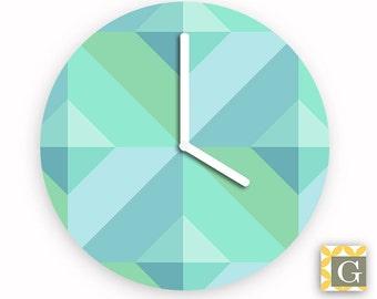 Wall Clock by GABBYClocks - Geometric Sea No. 3