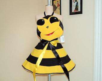 Apron , Bee apron,bee costume,cosplay bee ,womens full Apron .