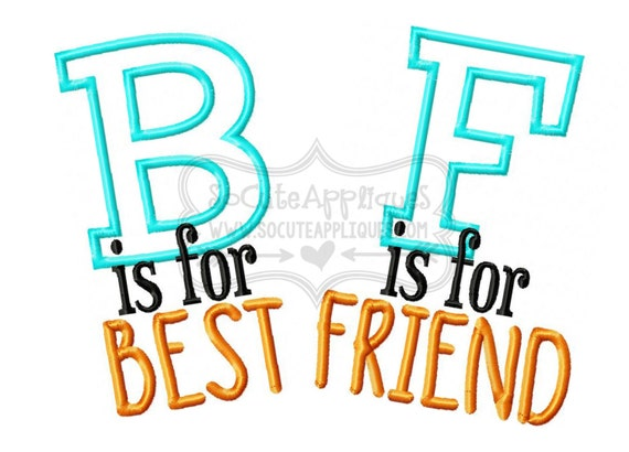 Friendship sayings embroidery designs
