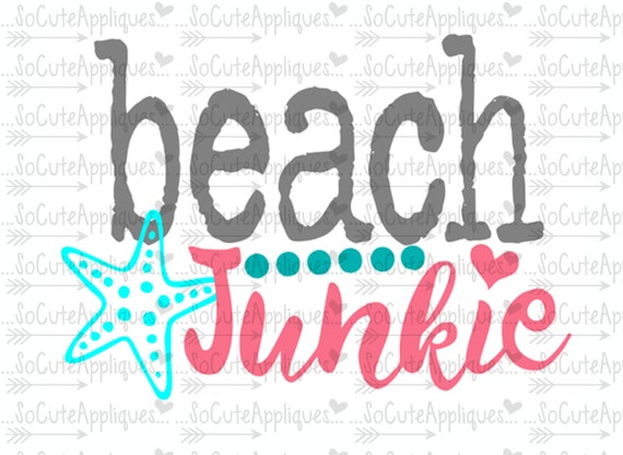 Svg Dxf Eps Cut File Beach Junkie Nautical Svg Cruise